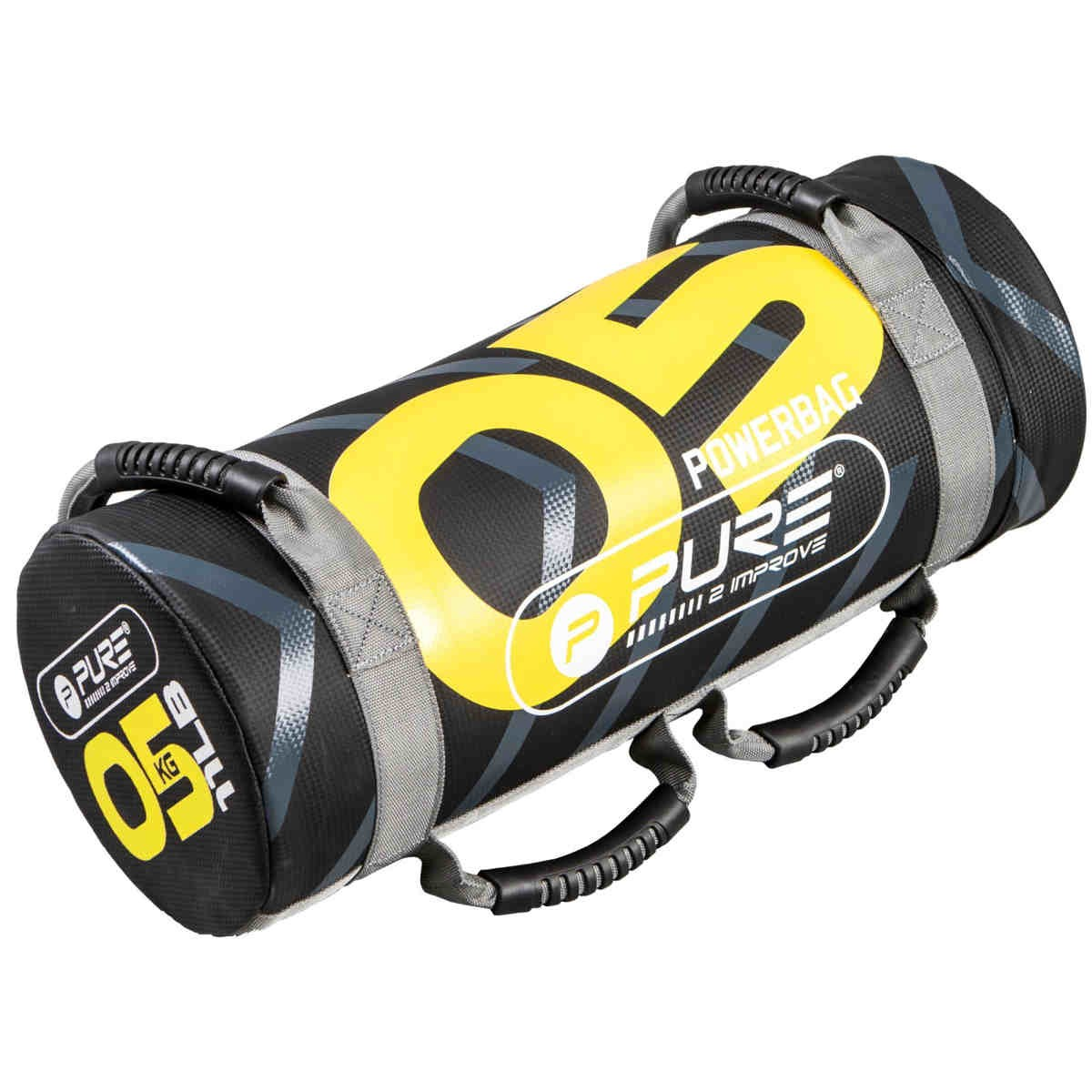 Pure2Improve Power Bag negro / amarillo 5 kg