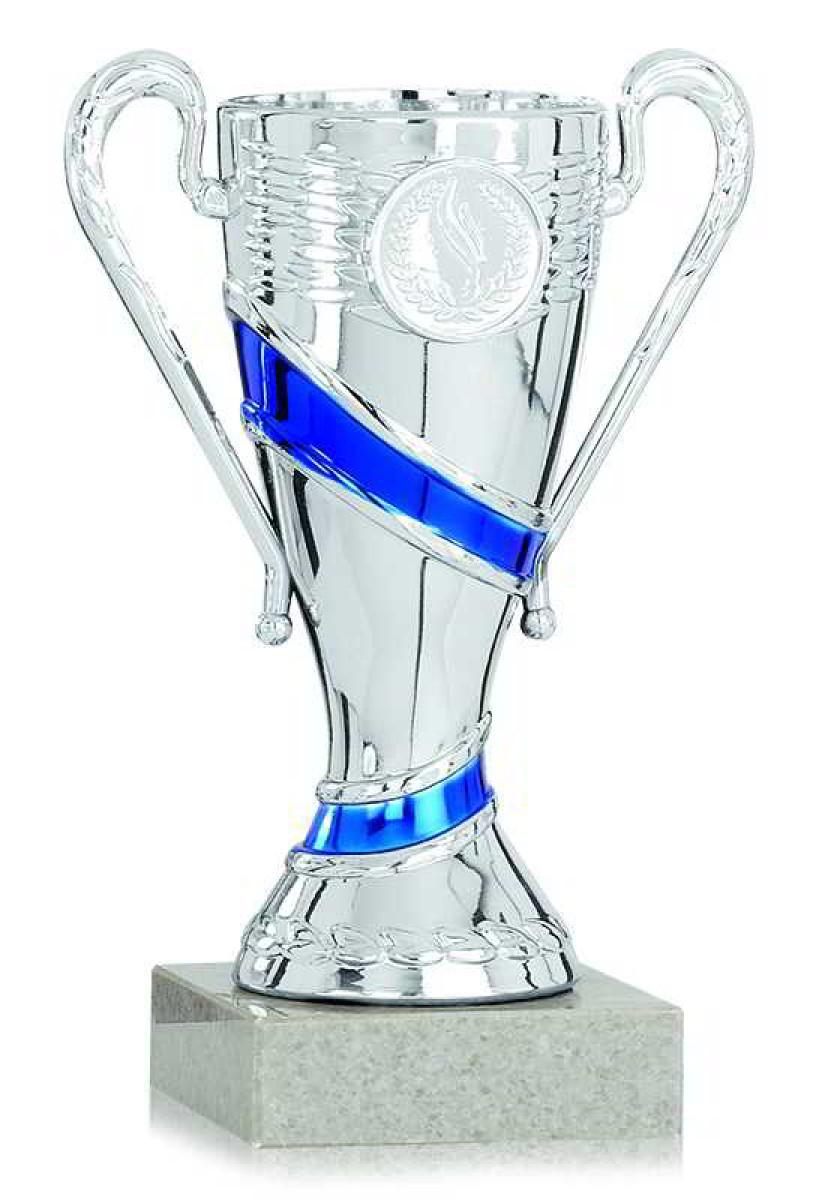 S.B.J Sportland Pokal Silber aus Kunststoff mit Marmorsockel