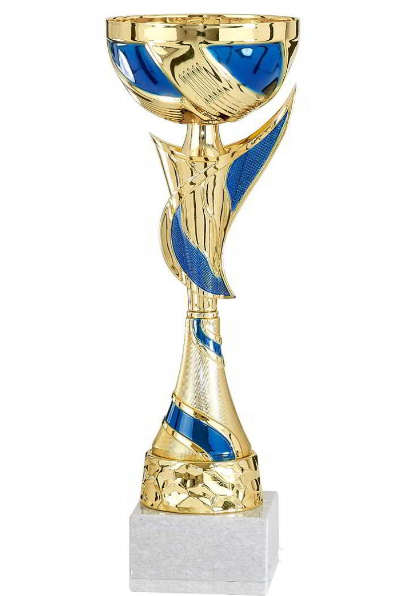 Sportland Pokal Silber mit blau S.B.J