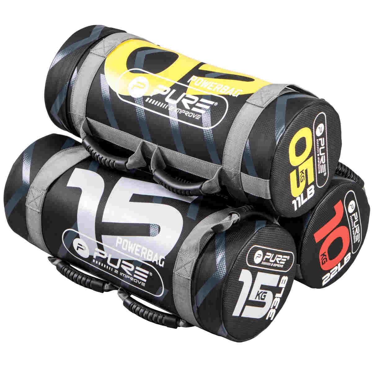 Pure2Improve Power Bag negro / gris 15 kg