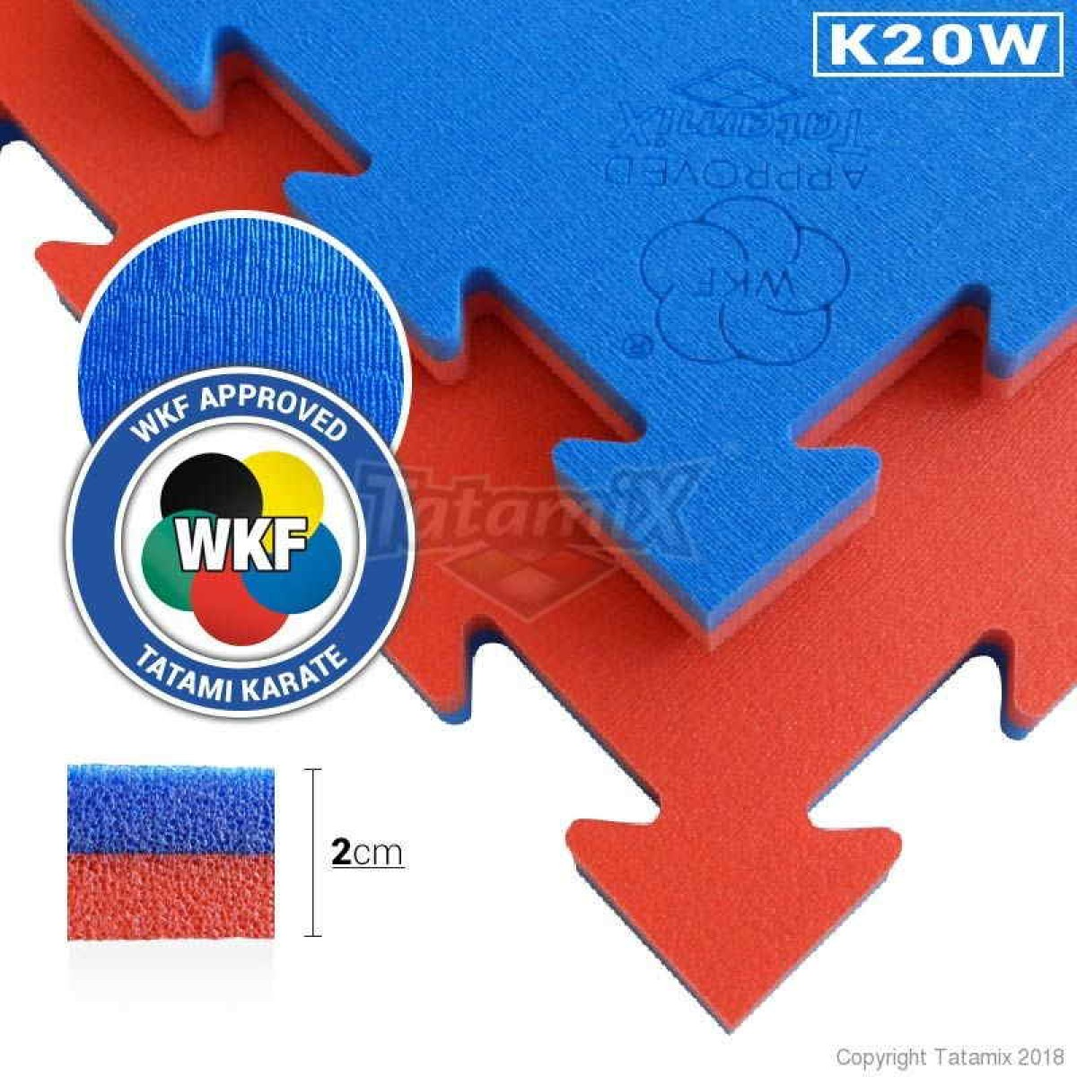 Karate Matte WKF approved rot/blau Tatamix