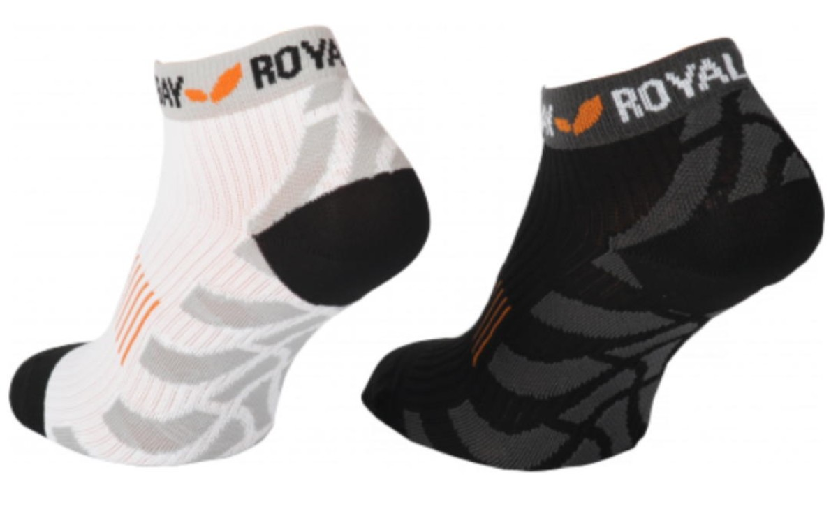 Sportsocken mit Kompression Low Cut von Royal Bay schwarz