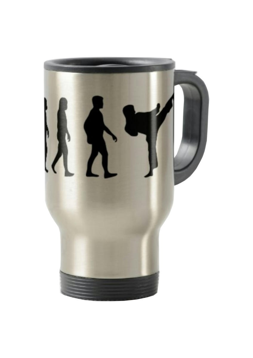 Mug isotherme To Go motif Evolution Karate