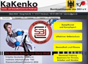 Test Dojo Kooperation mit Maria Weiß - Karate- und Gesundheitszentrum Kakenko Hersbruck